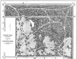 Overton Park Plans, circa 1901