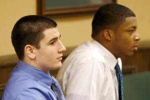 Mays and Richmond sit in juvenile court in Steubenville