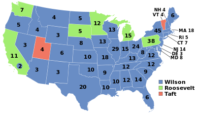 election of 1912 map