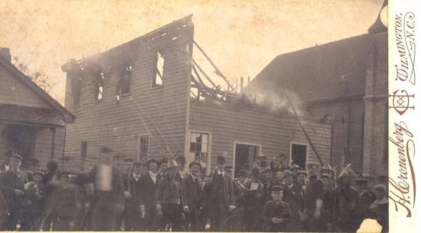 Daily Record burnt in Wilmington Race Riot