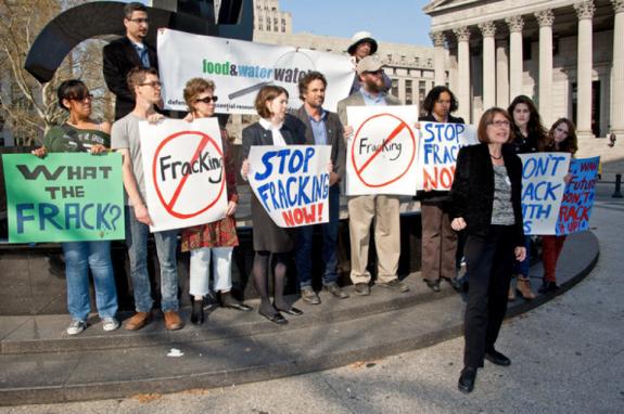 rally against fracking - asheville