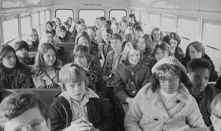 Charlotte busing students