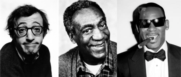 Woody Allen Bill Cosby R Kelly