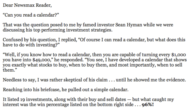 can you read a calendar aaron dehoog and sean hyman