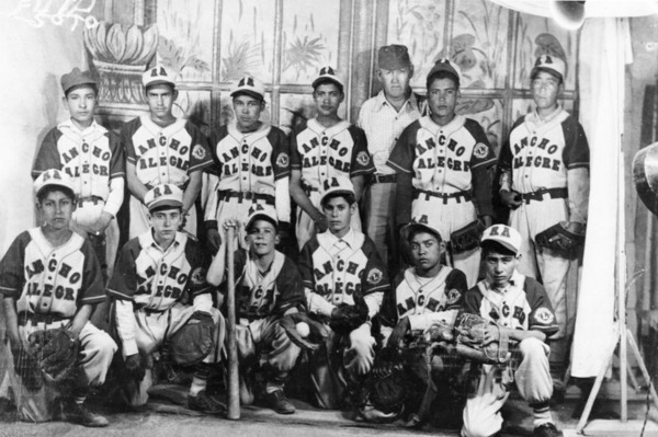 Team photo of the Rancho Alegre baseball team | Shades of L.A. Collection, Los Angeles Public Library