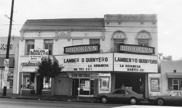 Brooklyn Theatre in Boyle Heights   Photo by Leo Jarzomb, courtesy of the Los Angeles Public Library
