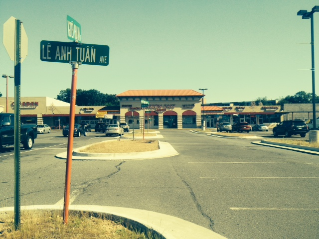 Eden Center Parking Lot, July 2014
