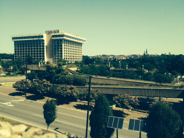 Site of covert intrigue, the Key Bridge Marriott, Arlington, VA circa 2014