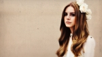 lana del rey with flowers in her hair