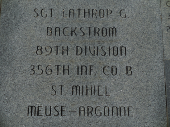 Sgt Lathrop headstone