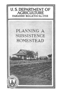 This bulletin deals chiefly with the economic problems that will be met by those people who are planning to combine part-time farming and wage earning, 1934   Photo courtesy of US Library of Congress