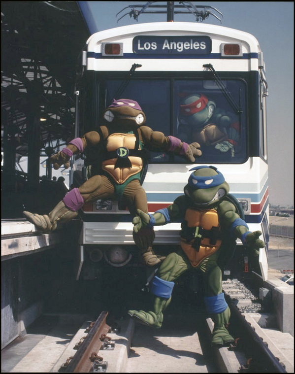 An exclusive videotape was released to promote the Blue Line with help from the Teenage Mutant Ninja Turtles | Photo: Metro Library and Archive/Flickr/Creative Commons