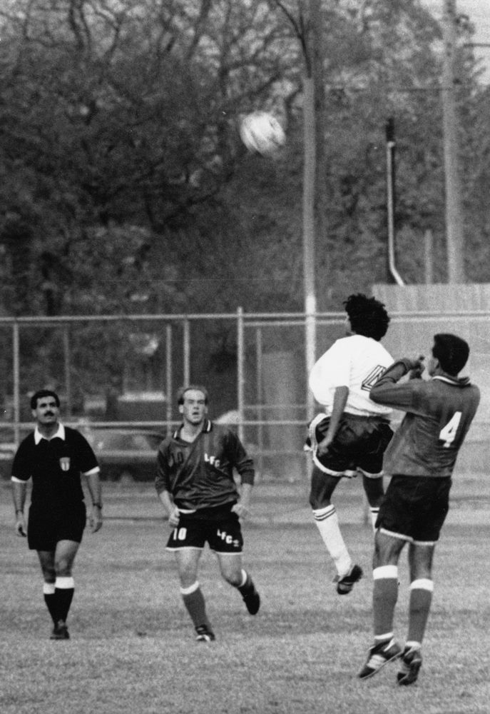 Ganguli in action, circa early 1990s Chicago