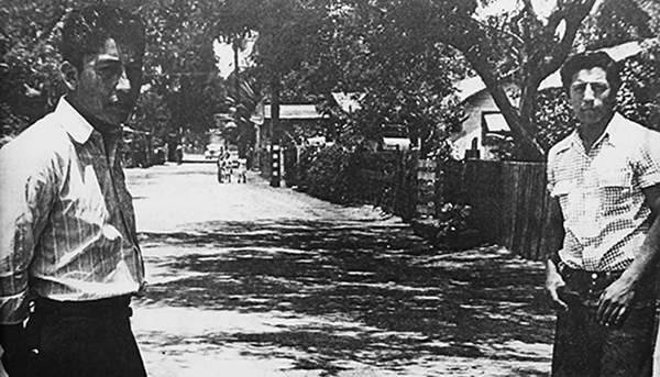 Hicks Camp in El Monte was one of many Mexican colonias along the Southern Pacific railroad. Photo courtesy of La Historia Society.
