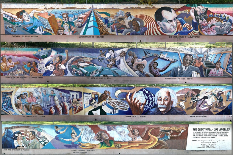 Various segments of The Great Wall of Los Angeles