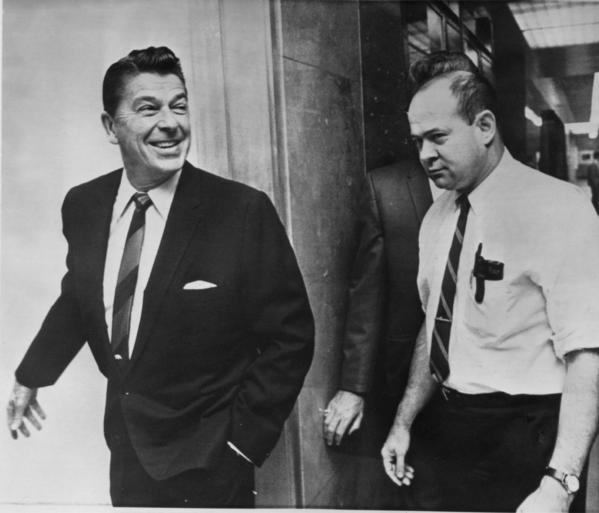Ronald Reagan in 1968 with Lyn Nofziger his communications director courtesy of http://4lakidsnews.blogspot.com/2013/05/ronald-reagan-and-declinefall-of-uc-how.html
