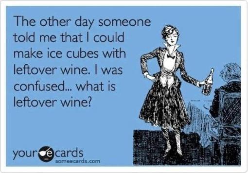 leftover wine meme