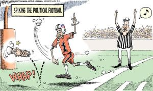 spiking the political football