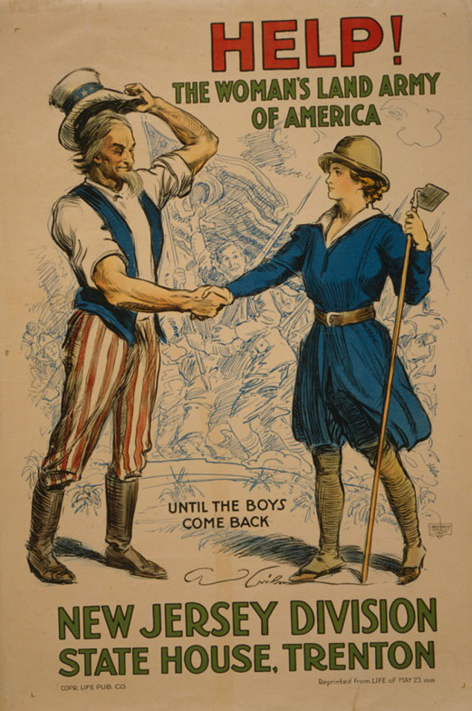 Until the boys come back. Library of Congress, Prints & Photographs Division, WWI Posters, LC-USZC4-10239 (color film copy transparency).
