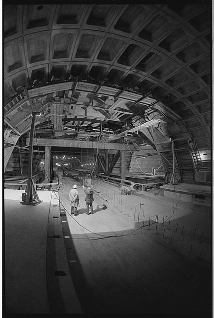 Warren K. Leffler, Metro Center subway station being being constructed at 13th and G Streets, N.W., Washington, D.C., November 16, 1973, Prints and Photographs Division, Library of Congress