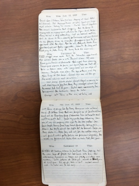 Charles Hamilton Houston, Paris Diary, Jan 1919, William LePries Houston Papers, Manuscript Division, Library of Congress