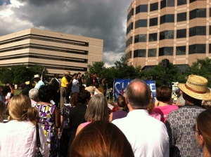 """A scene from a """"Moral Monday"""" protest in Raleigh, 2013"""