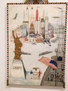 "Florine Stettheimer , ""New York City/Liberty, 1918"" Whitney Museum of Art, Photo by Ryan Reft"