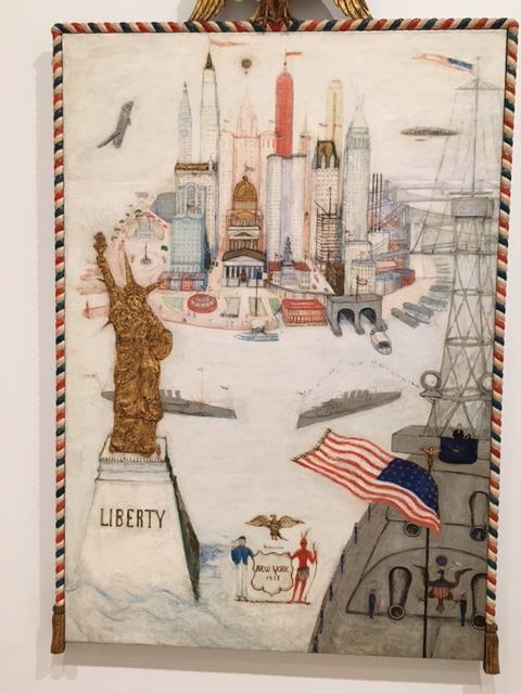 "Florine Stettheimer , ""New York City/Liberty, 1918"" Whitney Museum of Art, Photo by Ryan Reft"
