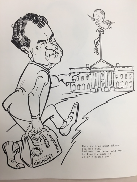 Jose Perez and Robert F. Patton, Nixon/Agnew Coloring Book, 1969, David S. Broder papers, Manuscript Division, Library of Congress