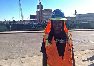 LeDaya Epps, member of the LABWC, worked on the Crenshaw/LAX Transit project. Photo courtesy of LABWC.