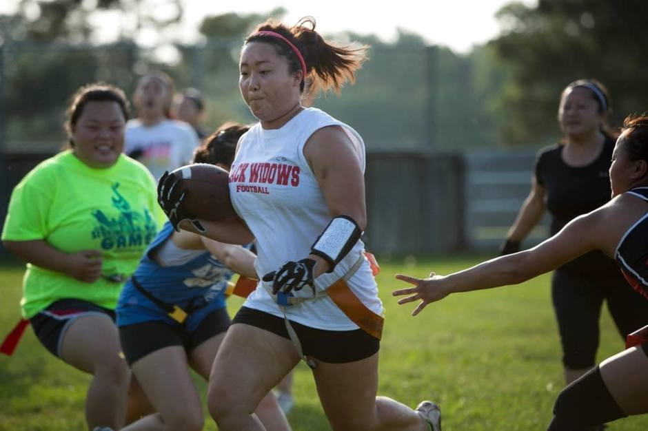 via MPRNews, St. Paul, Minnesota, http://www.mprnews.org/story/2013/06/28/news/for-hmong-american-women-flag-football-breaks-barriers