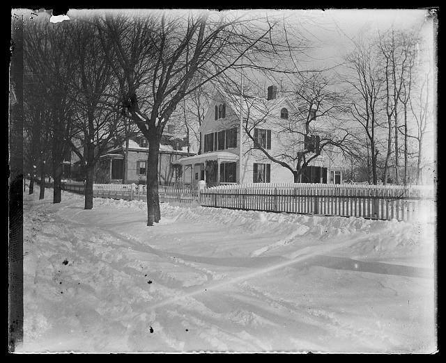 """Our House in Winter"" [Jacob Riis' Home in Richmond Hill, Queens], circa 1890-1904, Prints and Photographs Division, Library of Congress"