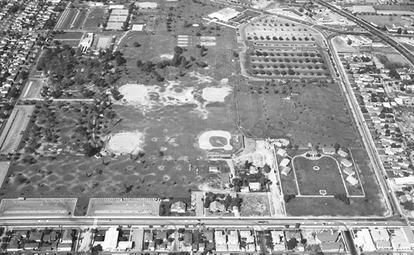 Ariel view of South Gate circa 1956