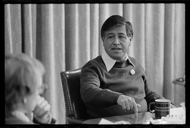 "Marion Trikosko, ""Interview with Cesar Chavez"", April 20, 1979, Prints and Photographs Division, Library of Congress"
