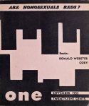 ONE Magazine front cover, volume 1, number 9, September 1953