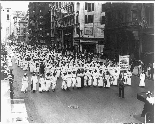 Silent protest parade in New York [City] against the East St. Louis riots, 1917, Prints and Photographs Division, Library of Congress