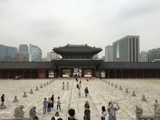 Seoul, Korea's Gyeongbokgung Palace largely destroyed while under Japanese occupation later rebuilt