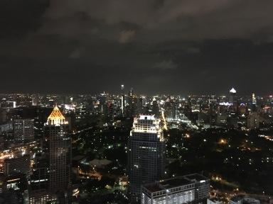 Modern Bangkok at night via Moon Bar