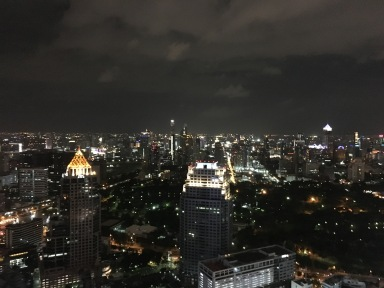 Modern Bangkok at night via Moon Bar