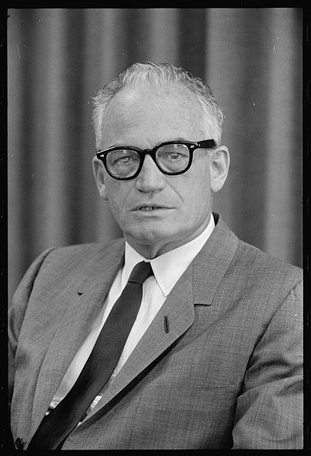 "Didion's political spirit animal?; Marion S. Triskosko, ""Interview: Berry [i.e., Barry] Goldwater / MST."" September 25, 1962, Prints and Photographs Division, Library of Congress"