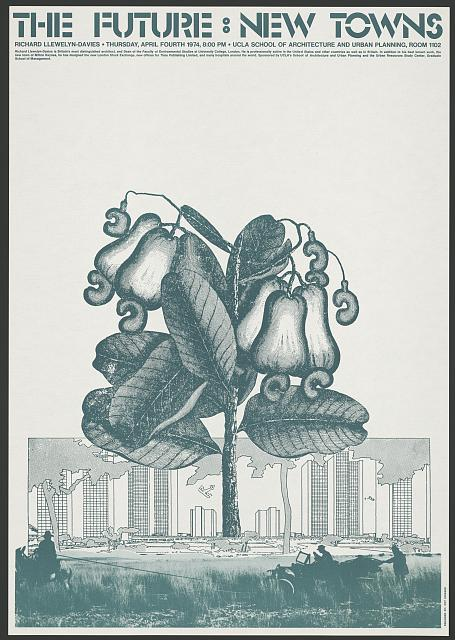 """New visions of the city in L.A.; Howard Coy, """"The future, new towns, Richard Llewelyn-Davies, Thursday, April Fourth 1974,"""" 1974, Prints and Photographs Division, Library of Congress"""
