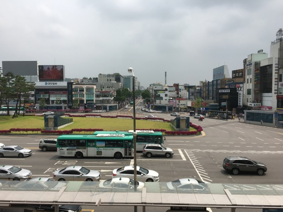 Suwon as seen from its central train station