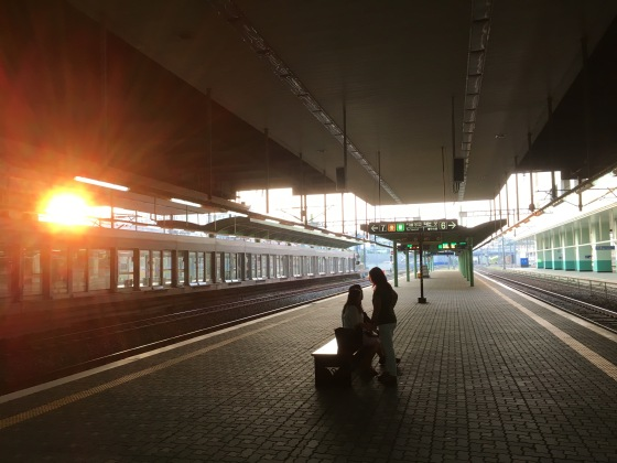 Suwon Train Station at Sunset