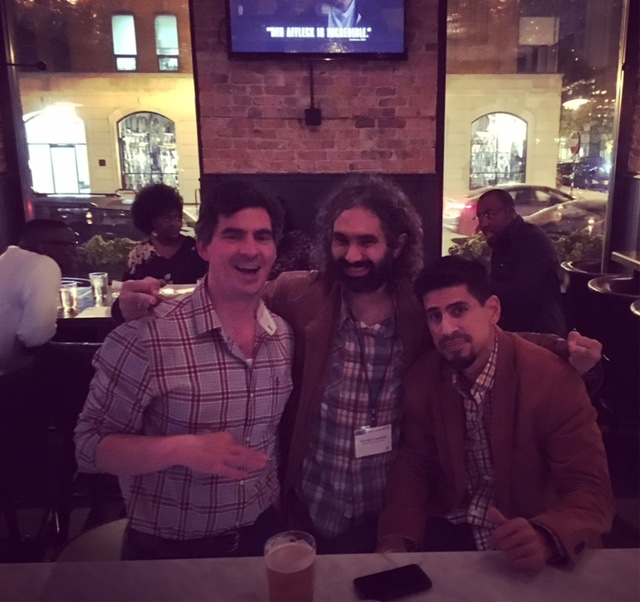 """""""Can we get more plaid in this picture??""""; RR, ASC, and CUNY's Matthew Vaz at UHA 2016"""
