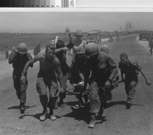 Evacuating injured soldier - Vietnam