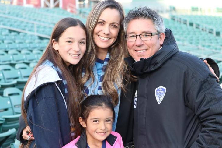 Jeremy with Family at FFC game.
