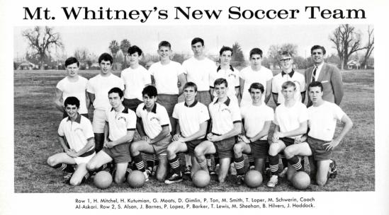 Mt Whitney's New Soccer Team