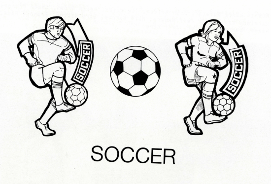 Visalia yearbook soccer image