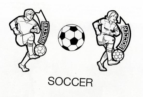 Visalia yearbook soccer image