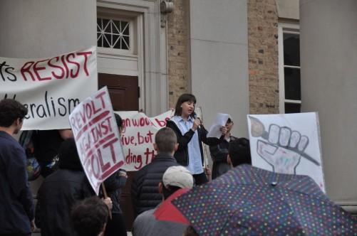 unc artists protest